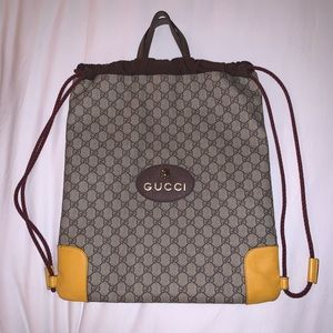 Brand New. Gucci Drawstring Bag with handle.
